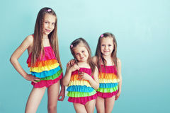 Children in swimwear Royalty Free Stock Image