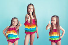Children in swimwear Stock Photo
