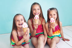 Children in swimwear Royalty Free Stock Images