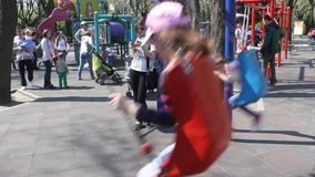 Children in the swing stock video