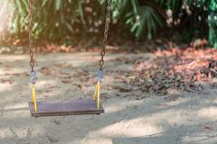 Children Swing in playground at public park. Concept family time at public park Royalty Free Stock Photos