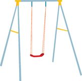 Children swing set, outdoor play. Royalty Free Stock Photo