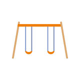 Children swing on  white background. Vector illustration. For app Royalty Free Stock Photos