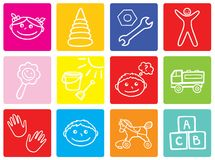 Children symbols Stock Image