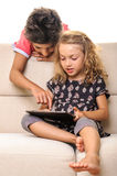 Children with tablet Stock Photos