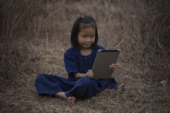 Children with tablet Stock Image
