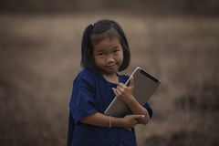 Children with tablet Stock Images