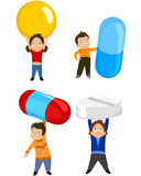 Children with tablets Stock Images