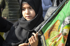 Children takes part in an Ashura ceremony Royalty Free Stock Images