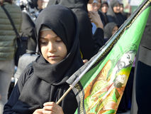 Children takes part in an Ashura ceremony Stock Photography