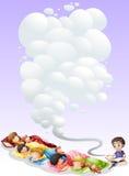 Children taking nap Stock Image