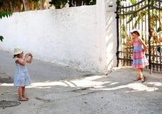 Children taking photos Royalty Free Stock Image