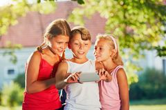 Children taking a selfie Royalty Free Stock Images