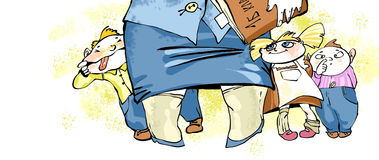 Children & teacher Stock Image