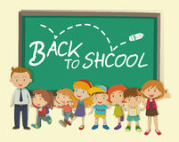 Children and teacher back to school Stock Image