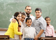 Children at school classroom royalty free stock photos