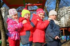 Children team in kindergarten Royalty Free Stock Images
