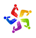 Children teamwork hands icon. Vector design Stock Images