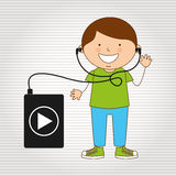 Children and technology design. Illustration eps10 graphic Stock Images