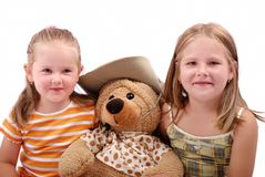 Children with teddy bear Stock Photos