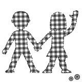 Children textile patchwork couple Royalty Free Stock Photo