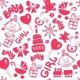 Children texture (girl). Vector illustration - children's background (for girls vector illustration
