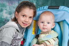 Children - The Sister And The Brother. Stock Image