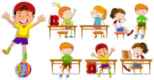 Children at their desks Stock Images