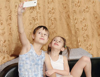 Children themselves photographed Stock Image