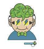 Children think with education icons, Education thinking concept, Royalty Free Stock Images