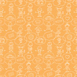 Children thinking seamless pattern background Royalty Free Stock Photo