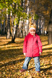 Children throw autumn leaves 5 Royalty Free Stock Photography