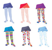Children tights set Stock Photo