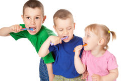 Children to brush his teeth Stock Photography