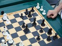 Children to play chess stock photo