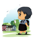 Children to school Royalty Free Stock Photo