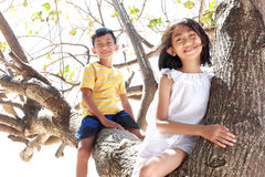 Children together outdoor Royalty Free Stock Photo