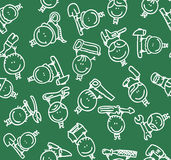 Children tools pattern Stock Images