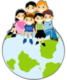 Children on Top Royalty Free Stock Photos