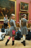 Children on tour in the national museum of Russian art Royalty Free Stock Image
