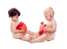 Children with toy Royalty Free Stock Image
