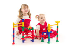Children with toy Stock Photo