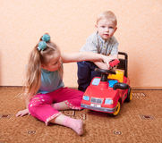 Children with toy Royalty Free Stock Images