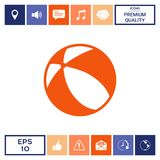 Children toy, bouncy ball - icon. Element for your design . Signs and symbols - graphic elements for your design Royalty Free Stock Image