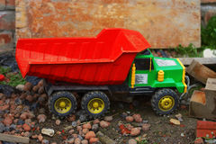 Children toy car truck. Background Stock Image
