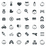 Children And Toy Icons Set. Stock Photo