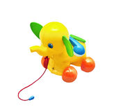 Children toy, rumbling rolling elephant Royalty Free Stock Photography