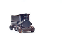 Children toy train made of wood Stock Images