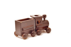 Children toy train made of wood Royalty Free Stock Photography