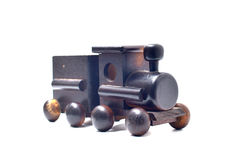 Children toy train made of wood Stock Photos
